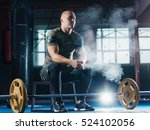 young man weightlifter... | Shutterstock . vector #524102056