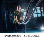 men with battle rope battle... | Shutterstock . vector #524102068