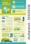ecology flat infographics with... | Shutterstock .eps vector #524103136