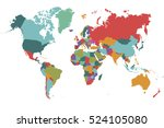 world map countries vector on... | Shutterstock .eps vector #524105080
