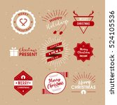 christmas lables retro style. | Shutterstock .eps vector #524105536