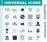 set of 25 universal editable... | Shutterstock .eps vector #524109700