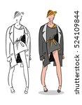 girl illustration. fashion...   Shutterstock .eps vector #524109844