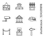 art gallery icons set. line... | Shutterstock .eps vector #524109898