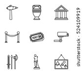 museum icons set. outline... | Shutterstock .eps vector #524109919