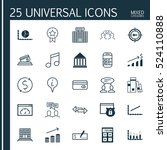 set of 25 universal editable... | Shutterstock .eps vector #524110888