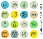 set of 16 christmas icons. can...