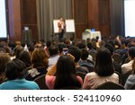 speakers on the stage with rear ... | Shutterstock . vector #524110960