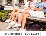 close up of three women with... | Shutterstock . vector #524111554