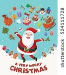 vintage christmas poster design ... | Shutterstock .eps vector #524111728