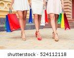 close up of sexy women's legs... | Shutterstock . vector #524112118