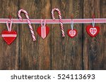 christmas decoration with candy ... | Shutterstock . vector #524113693