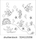 concept under the sea on a... | Shutterstock .eps vector #524115358