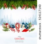 holiday christmas background... | Shutterstock .eps vector #524117140