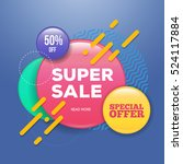 modern sale badge and special... | Shutterstock .eps vector #524117884