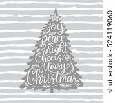 merry christmas phrases  hand... | Shutterstock .eps vector #524119060