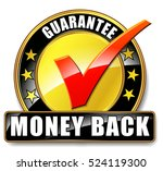 illustration of money back icon ... | Shutterstock .eps vector #524119300