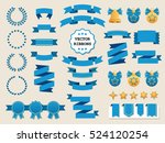 vector collection of decorative ... | Shutterstock .eps vector #524120254