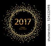 golden splash or glittering... | Shutterstock .eps vector #524122498