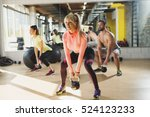 healthy young athletes doing...   Shutterstock . vector #524123233