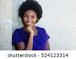 beautiful african american girl | Shutterstock . vector #524123314