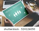 insurance coverage mix... | Shutterstock . vector #524126050