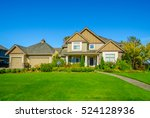 big custom made luxury house... | Shutterstock . vector #524128936