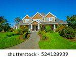 big custom made luxury house... | Shutterstock . vector #524128939