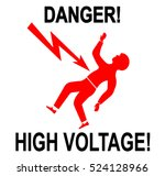 illustration of warning sign of ... | Shutterstock .eps vector #524128966