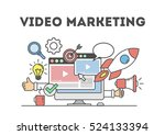 video marketing concept.... | Shutterstock .eps vector #524133394