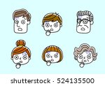 face  facial expression ... | Shutterstock .eps vector #524135500