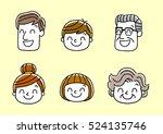 face  facial expression ... | Shutterstock .eps vector #524135746