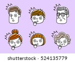 face  facial expression ... | Shutterstock .eps vector #524135779