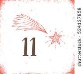 christmas advent calendar set.... | Shutterstock .eps vector #524137858