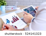 business colleagues working and ... | Shutterstock . vector #524141323