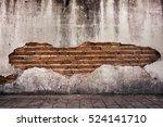 grunge background  red brick... | Shutterstock . vector #524141710