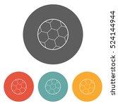 soccer ball icon | Shutterstock .eps vector #524144944