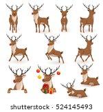reindeer christmas vector... | Shutterstock .eps vector #524145493