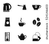 beverage icons set. simple... | Shutterstock .eps vector #524146603