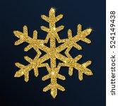 golden glitter gorgeous... | Shutterstock .eps vector #524149438