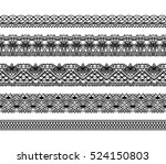 knitted openwork lace mesh.... | Shutterstock .eps vector #524150803