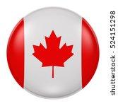 3d rendering of canada flag on... | Shutterstock . vector #524151298