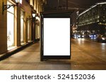 mock up of template bus stop... | Shutterstock . vector #524152036
