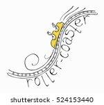 hand drawn sketch doodle roller ...   Shutterstock .eps vector #524153440