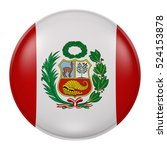 3d rendering of peru flag on a... | Shutterstock . vector #524153878