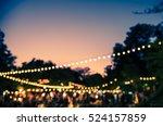 vintage tone blur image of... | Shutterstock . vector #524157859