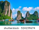 floating fishing village and... | Shutterstock . vector #524159674
