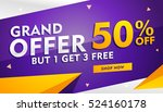 grand offer sale and discount... | Shutterstock .eps vector #524160178