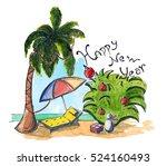watercolor hand drawn sketch of ...   Shutterstock . vector #524160493