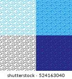 Waves Pattern Set. Seamless...